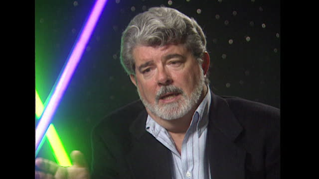 vídeos de stock, filmes e b-roll de george lucas on the freedom offered in digital film making comparing it to creating oil paintings - george lucas