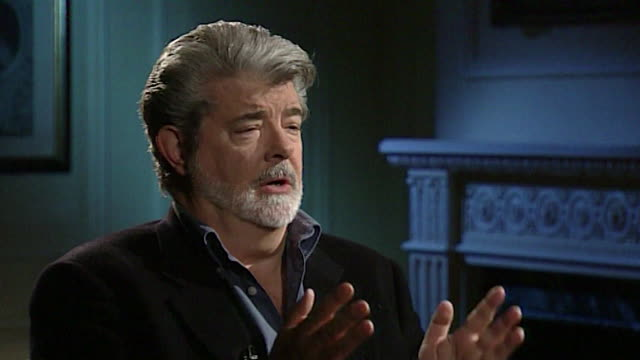 george lucas on the 'icon of evil that had been created around darth vader' - hollywood california stock videos & royalty-free footage
