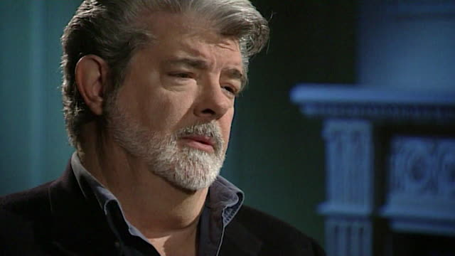 george lucas talks about 3d films being 'not 3d movies it's movies in three dimensions' - hollywood california stock videos & royalty-free footage