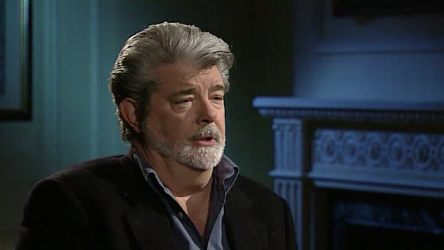 stockvideo's en b-roll-footage met george lucas talks about dvd sales supporting theatrical releases' - dvd