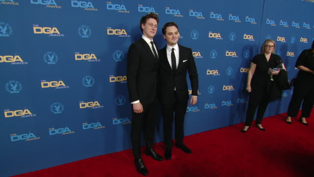 stockvideo's en b-roll-footage met george mackay and deancharles chapman at the 72nd annual dga awards at ritzcarlton on january 25 2020 in los angeles california - george mackay