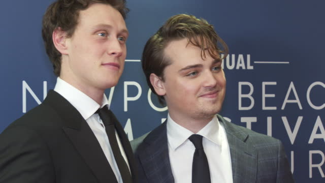 stockvideo's en b-roll-footage met george mackay and deancharles chapman at the newport beach film festival uk honours in association with variety at the langham hotel on january 29... - george mackay
