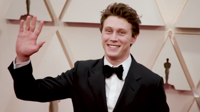 stockvideo's en b-roll-footage met george mackay at the 92nd annual academy awards arrivals on february 09 2020 in hollywood california - george mackay