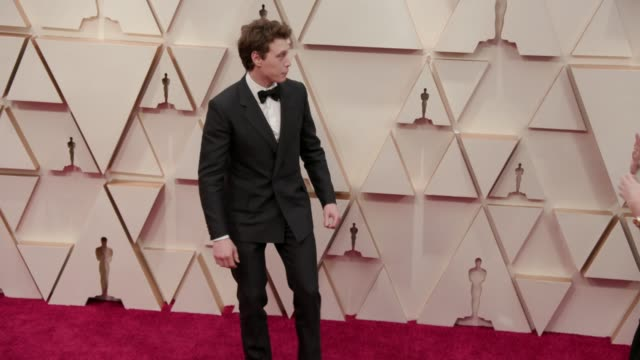 stockvideo's en b-roll-footage met george mackay at the 92nd annual academy awards at the dolby theatre on february 09 2020 in hollywood california - george mackay