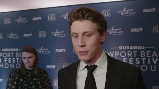 george mackay at the langham hotel on january 29 2020 in london england - western usa stock videos & royalty-free footage
