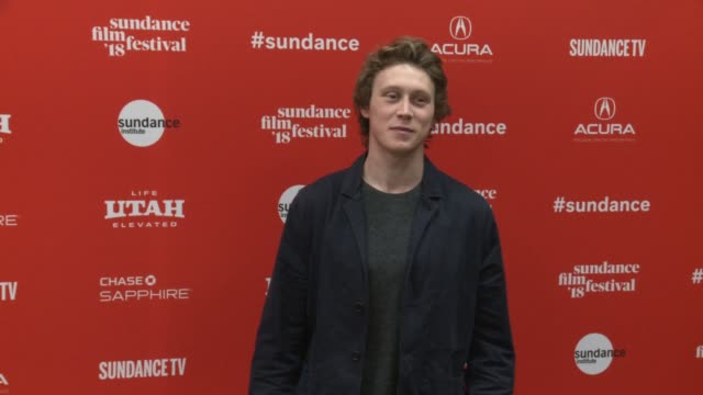 George MacKay at the 'Ophelia' Premiere 2018 Sundance Film Festival at Eccles Center Theatre on January 22 2018 in Park City Utah