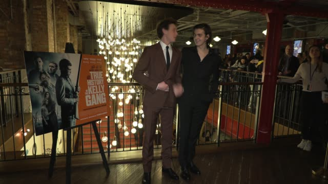 stockvideo's en b-roll-footage met george mackay earl cave at picturehouse central on february 17 2020 in london england - george mackay