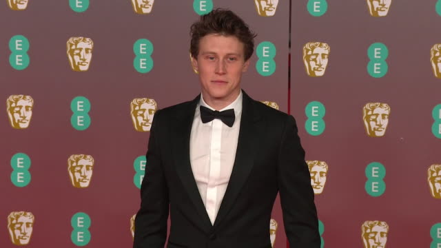 george mackay, star of 1917, on red carpet at bafta film awards 2020 - 1917 stock videos & royalty-free footage