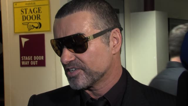 george michael on being back on tour playing with an orchestra having the focus back on his music at the george michael performs at royal albert hall... - popular music tour stock videos and b-roll footage