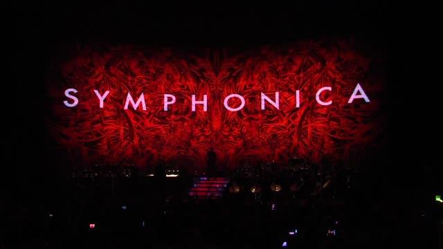 vídeos de stock, filmes e b-roll de george michael symphonica tour london uk capsule clean: george michael symphonica tour lond at royal albert hall on october 25, 2011 in london,... - royal albert hall