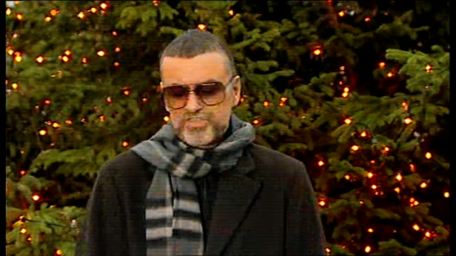 George Michael talks of recent health scare ENGLAND London George Michael speaking to press near his North London home SOT I had a form of pneumonia...