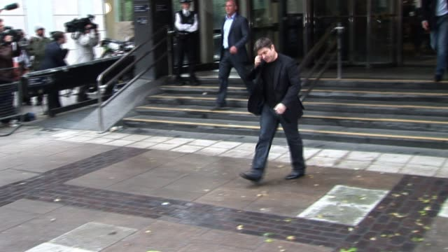 george michael's partner kenny goss leaves the court after sentencing george michael sentencing at highbury corner magistrates court on september 15... - corner stock videos & royalty-free footage