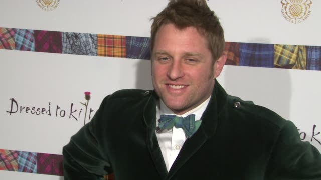george oliphant at the 9th annual dressed to kilt charity fashion show at new york ny. - kilt stock videos & royalty-free footage