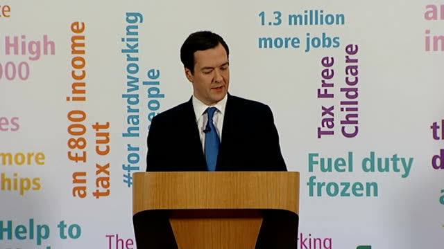george osborne aims for full employment in britain essex tilbury int osborne speech sot ambition to have more people working than any of the other... - g7サミット点の映像素材/bロール