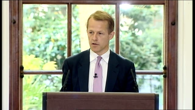 george osborne and david laws press conference at the treasury david laws mp speech sot great privilege and honour to be here at treasury we have to... - addition key stock videos & royalty-free footage