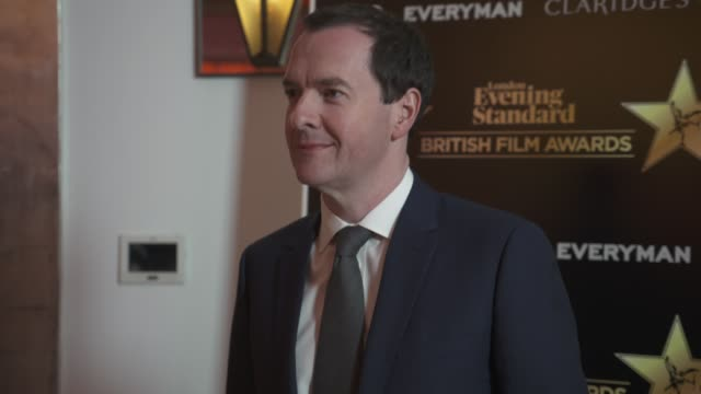 george osborne at evening standard british film awards at claridge's hotel on february 8 2018 in london england - george osborne stock videos & royalty-free footage