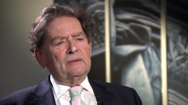 george osborne criticised over his budget; london: int set-up reporter and lord lawson lord lawson interview sot - don't think he's in a happy... - david m. davis politician stock videos & royalty-free footage