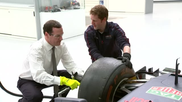 vídeos y material grabado en eventos de stock de george osborne evening standard appointment parliamentary watchdog to review mps' second jobs 452016 / r04051612 milton keynes red bull racing int... - buckinghamshire