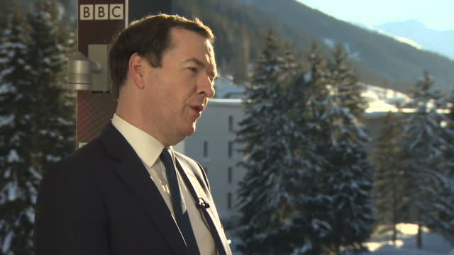 George Osborne former Chancellor at Davos says a delay on the Brexit deal looks a likely option as 'It give us space to explore if there is another...