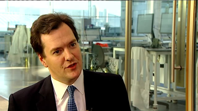 george osborne interview george osborne interview sot borrowing is coming down / if we'd stuck with the plans or lack of plans we had under the last... - bankruptcy stock videos & royalty-free footage