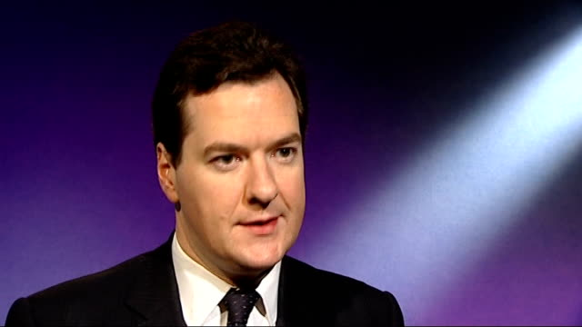 George Osborne interview on Goodwin pension ENGLAND London INT George Osborne MP interview re Lloyds losses SOT Huge losses and they beg the question...