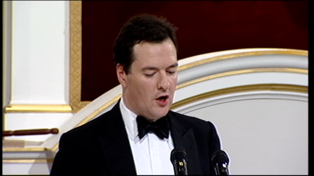 george osborne mansion house speech 2011 george osborne speech continued sot today i have told the commission that the government endorses both these... - banking sign stock videos & royalty-free footage