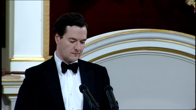 george osborne mansion house speech george osborne speech continued sot lord mayor that brings me on to the uncertainty that hangs over the future of... - backwater stock videos & royalty-free footage