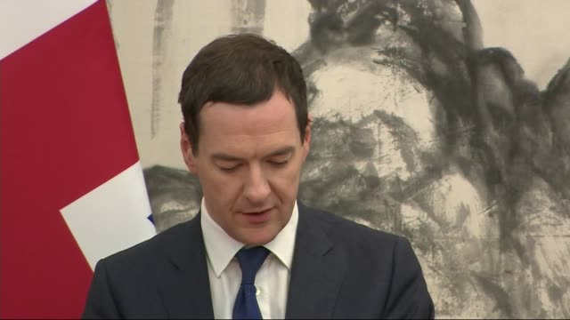 george osborne press conference george osborne press conference sot new 50 million pounds jointly funded research and innovation centre into nuclear... - 金融と経済点の映像素材/bロール