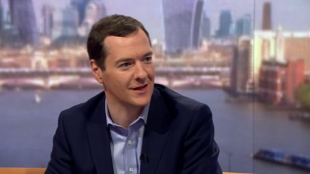 george osborne saying he is happy to be out of politics and that boris johnson is in a permanent leadership campaign - george osborne stock videos & royalty-free footage