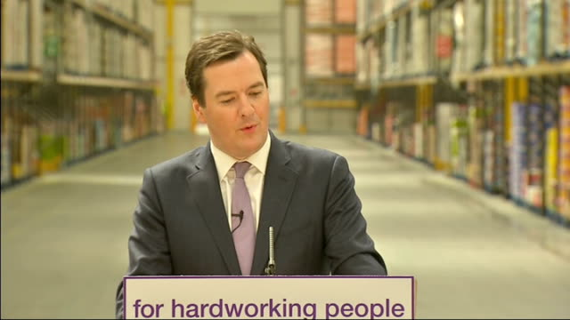 George Osborne speech at Morrisons Distribution Centre George Osborne speech SOT DELIVERY** So this April we're introducing the new Benefit Cap The...