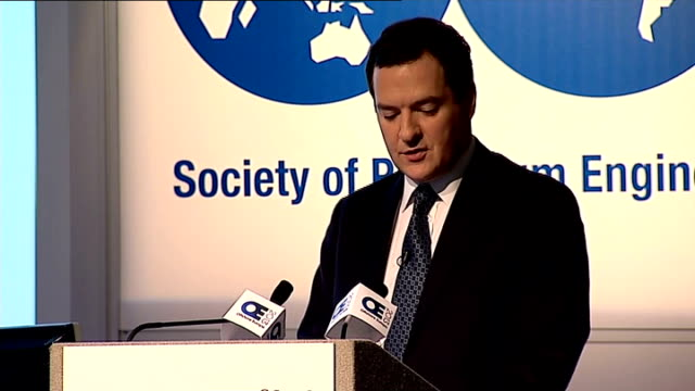 george osborne speech at offshore europe george osborne mp speech sot so we've put in the place the first ever national oil and gas strategy the... - politics and government stock videos & royalty-free footage