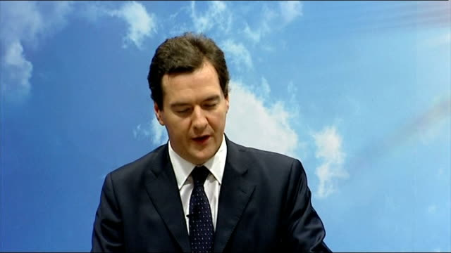 george osborne speech on conservative environmental plans i want to talk about all these things and more and in my opinion if you want any of these... - bear market stock videos and b-roll footage