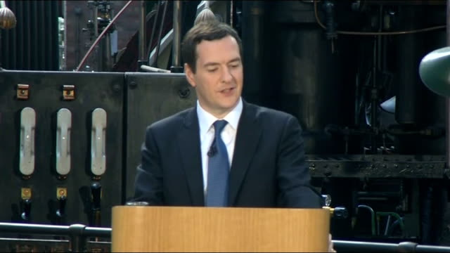 george osborne speech on creating a 'northern powerhouse' osborne speech sot the last census found that the average commute of someone who travels... - north stock videos & royalty-free footage