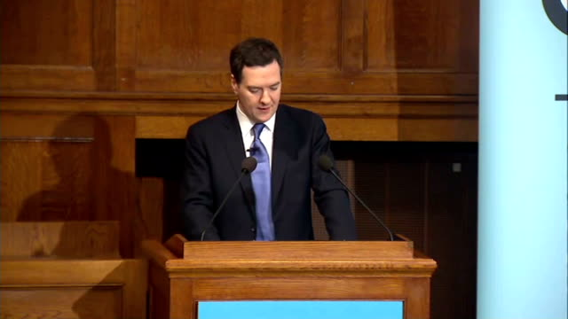 george osborne speech on european union osborne speech sot over the last six years the european economy has stalled in the same period the indian... - western europe stock videos & royalty-free footage