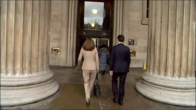 george osborne speech outlining eight benchmarks for economic growth; england: london: british museum: ext exterior of the british museum / george... - george osborne stock videos & royalty-free footage