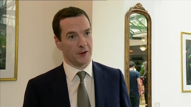 George Osborne visits Paris to push EU reform campaign FRANCE Paris INT George Osborne MP interview SOT Well we want a European Union that works for...