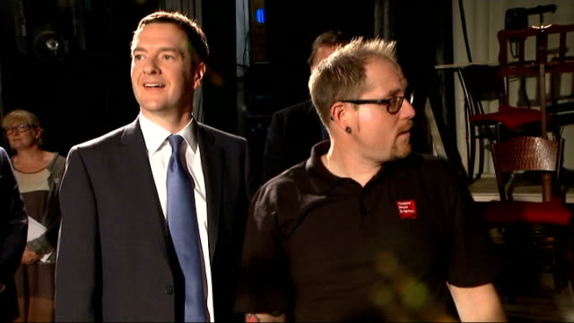 vídeos y material grabado en eventos de stock de george osborne visits theatre royal in brighton; england: east sussex: brighton: theatre royal brighton: int george osborne mp interview sot - on... - abandonar