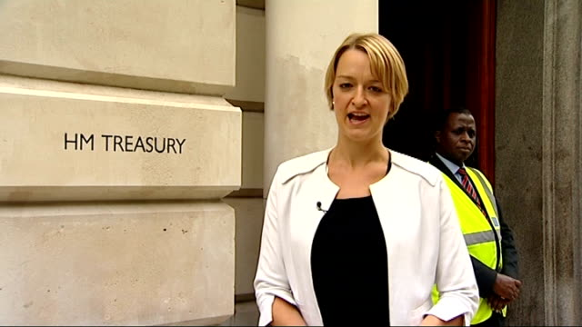 george osborne warned by imf to prepare for further economic decline london treasury ext reporter to camera reporter speaking with jim o'neill jim... - laura kuenssberg stock-videos und b-roll-filmmaterial