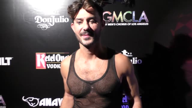 george papanikolas at the gay men's chorus of los angeles presents the 12th annual 'fred and jason's halloweenie' charity event at the belasco... - jason george stock videos and b-roll footage