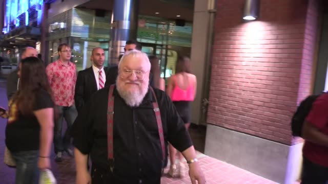 George R R Martin at ComicCon in San Diego CA on 7/21/13