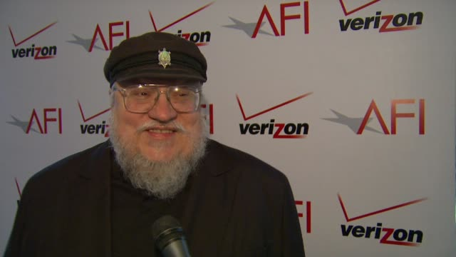 george r.r. martin on bringing 'game of thrones' to television at afi awards 2012 luncheon in beverly hills, ca, on 1/13/12 - television game show stock videos & royalty-free footage