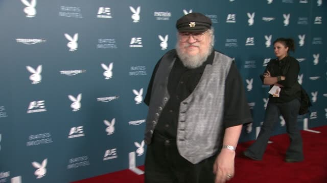 george rr martin playboy and ae's bates motel event during comiccon weekend on july 25 2014 in san diego california - playboy magazine stock videos and b-roll footage