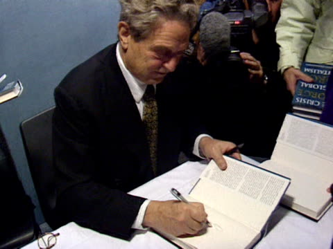 george soros at a book signing uk 1998 - book signing stock videos & royalty-free footage