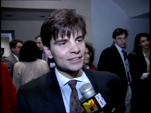 george stephanopoulos talking about how youth vote made the difference - anno 1992 video stock e b–roll