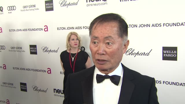 INTERVIEW George Takei at Elton John AIDS Foundation Presents 21st Annual Academy Awards Viewing Party Sponsored By Chopard Neuro Drinks And Wells...