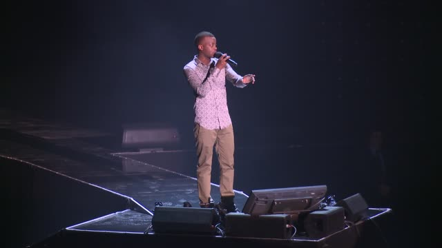 george the poet at we day uk at wembley arena on march 7, 2014 in london, england. - wembley arena stock videos & royalty-free footage