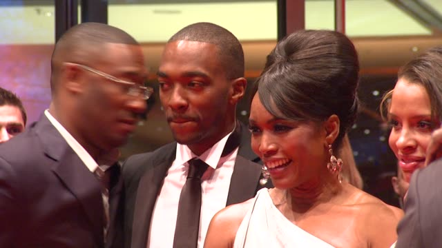 George Tillman Jr Anthony MacKie and Angela Bassett at the 59th Berlin Film Festival Notorious Premiere at Berlin