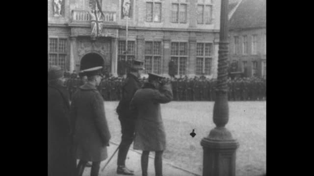 george v and king albert walking, george speaking to man on horseback / vs r-l prince of wales, belgian king albert, george v reviewing troops /... - king royal person stock videos & royalty-free footage