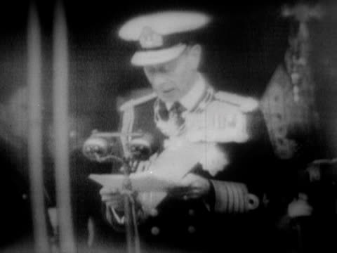 george vi makes a speech opening the festival of britain - festival of britain stock videos & royalty-free footage