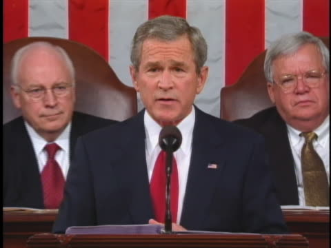 george w. bush addresses congress in his 2005 state of the union address. - community college stock videos & royalty-free footage